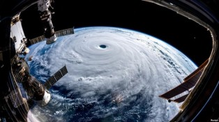 Typhoon Trami heads for Japan as seen from the International Space Station (ISS) (26 Sept, 2018). Source: (ESA/NASA-A.Gerst/via Reuters)
