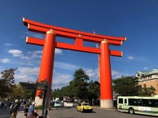 A large Torii gate just a short walk from the conference venue signalling the entrance to a Shinto shrine